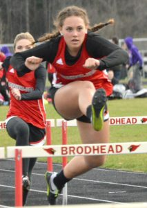 Track team captures two wins