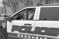 SUBMITTED PHOTO The Independent-Register Since officers and area children can't shop together for this year's Shop with a Cop event, Brodhead police will make special deliveries to participating children on Dec. 19.