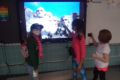 """SUBMITTED PHOTO The Independent-Register Albrecht Elementary School students enjoy some """"sight-seeing"""" as part of a special reading motivational project at the school. The theme of the January effort is """"'Book' a Trip: Reading Takes You Everywhere."""""""