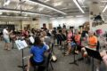 PHOTO SUBMITTED The Independent-Register Musicians of all ages gather weekly in the Brodhead High School band room to rehearse for the annual Brodhead Community Band concert. The concert is set for 6 p.m. Sunday, Aug. 15, in Veterans Park.